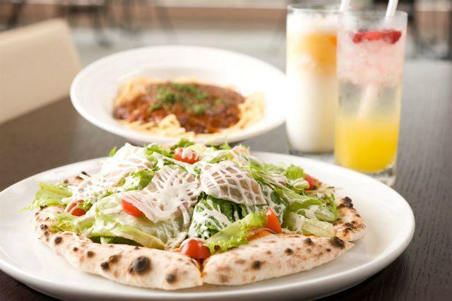 ピザがおススメ。地元のとれたて食材も利用されている