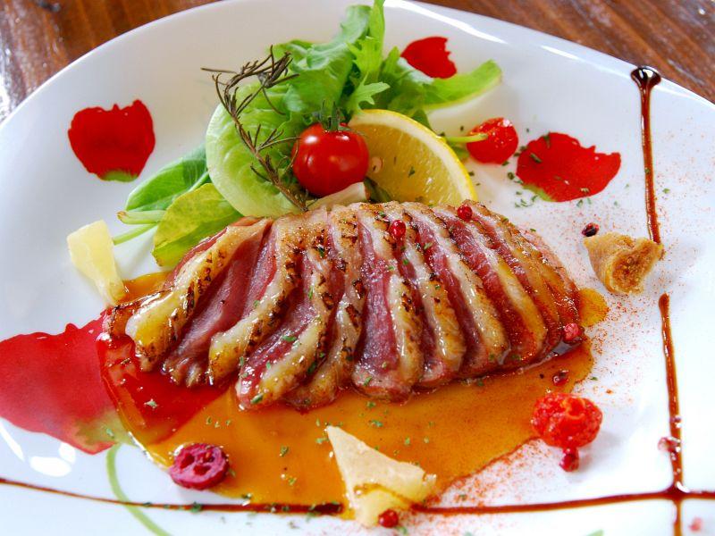 オレンジソースと相性ばっちり☆合鴨のステーキ