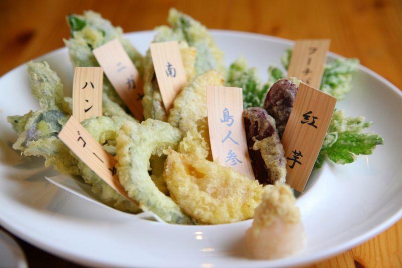 県産野菜の天ぷら盛り合わせ
