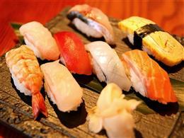 人気のネタを集めた握り寿司