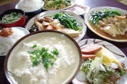 豆腐の定番「ゆしどうふ」