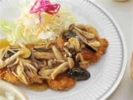白身魚きのこあんかけ定食
