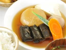 白身魚こんぶ巻きと大根煮定食