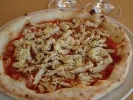 やんばる若鶏のピッツァ マリナーラ