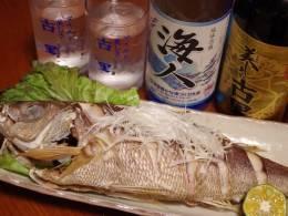 近海で取れた魚をリクエストで調理します