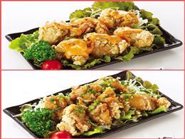 ピリ辛マヨとアジアンソース。お好みの味を!
