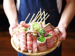 肉巻き野菜串オススメ