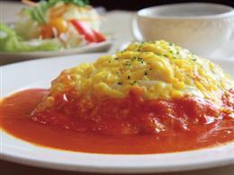 ★人気★自家製トマトーソースのオムライス