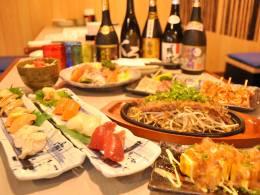美味しい料理と美味しいお酒を存分に楽しめます
