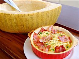 マルゴットチーズのクリーミーカルボナーラ