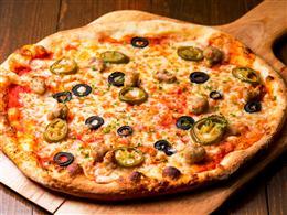 ハラペーニョとイタリアンハムのピザ¥680