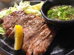 肉の王様♪サーロインステーキおろしポン酢添え