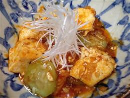 ナーベラー(へちま)と島豆腐のチリソース