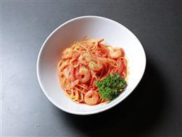 海老トマトパスタ