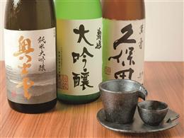 日本酒・焼酎各種取り揃えております