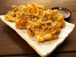 プチプチ食感!海ぶどうの天ぷら