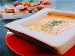 器ごと食べれるチーズフォンデュ