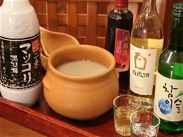 韓国のお酒も楽しめます