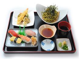夜/寿司天ぷら冷やし茶そば