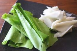 オオタニワタリとアダンの新芽の創作料理も色々