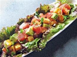 新鮮!まぐろの三色サラダ