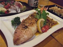 ボリューム満点の魚のバター焼き