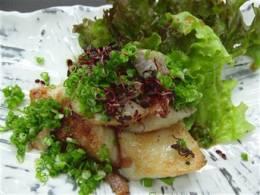 白身魚塩辛ニンニク焼き