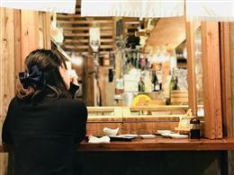 魚寿司、一押しのお席は外テラス
