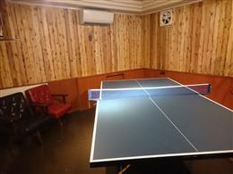 お店の奥には、卓球ができるスペースあり!