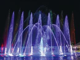 かりゆしミリオンファンタジーの噴水ショー