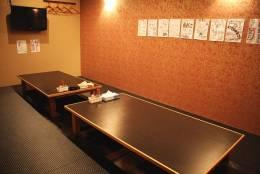個室もあります。20名様まで収用可能。